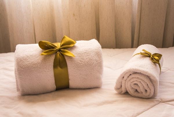 清潔なタオル